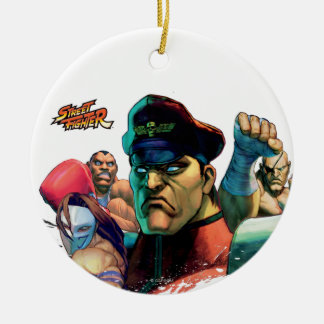 Shadowloo Double-Sided Ceramic Round Christmas Ornament