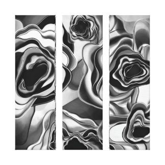 ShadowRose Giclee Tryptic Gallery Wrapped Canvas