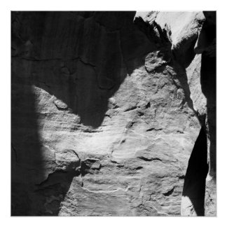 Shadows, An Abstract Photo in Black and White Poster