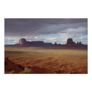 Shadows at Monument Valley Poster