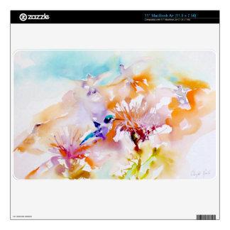 """Shadows in Pastels"" Hummingbird Print Decal For MacBook Air"