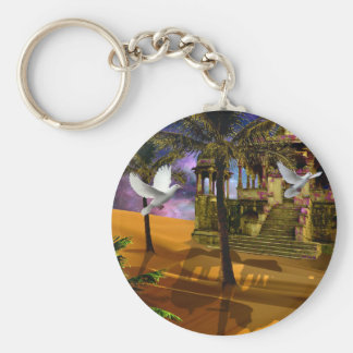 Shadows in the sand keychain