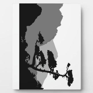 Shadows Of A Zen Landscape Plaque