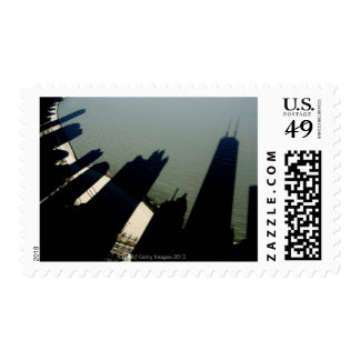 Shadows of Hancock Tower and apartment buildings Stamps