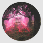 Shadows of Indian Summer, by McD Round Sticker