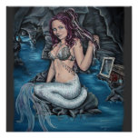 shadows of the world steampunk mermaid poster