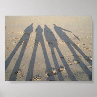 Shadows On Sand Poster