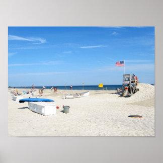 Shadows on the Beach Poster