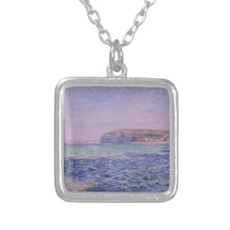 Shadows on the Sea. The Cliffs at Pourville Square Pendant Necklace