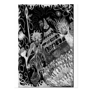 Shadows' Revelry Inverted Postcard