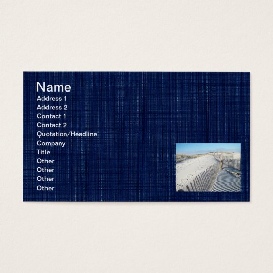 Shadows, Sand Dunes, and Fences Business Card