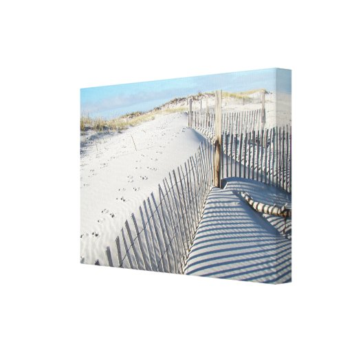 Shadows, Sand Dunes, and Fences Gallery Wrap Canvas