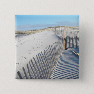 Shadows, Sand Dunes, and Fences Pinback Button