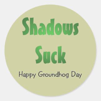 Shadows Suck Classic Round Sticker