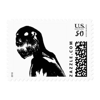 Shadows Watching Postage Stamps