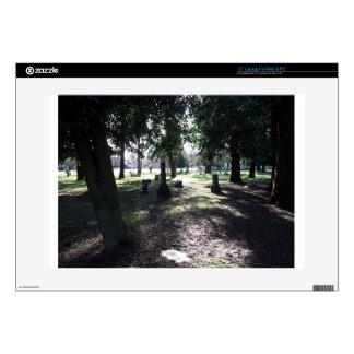 "Shadowy Cemetery 15"" Laptop Skin"