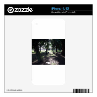 Shadowy Cemetery Skin For iPhone 4