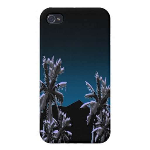 Shadowy Palms Case For iPhone 4