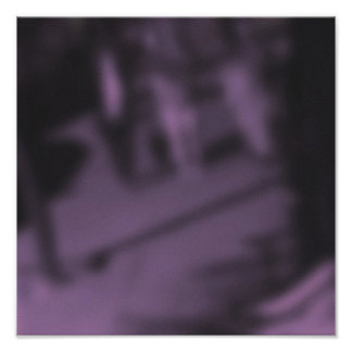 Shadowy Purple NYC Pedestrians Poster
