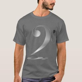 Shadowy Silver Bass Clef T-Shirt