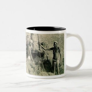 Shadufs in Upper Egypt (sepia photo) Two-Tone Coffee Mug