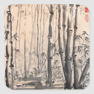 Shady Bamboo Forest Stickers