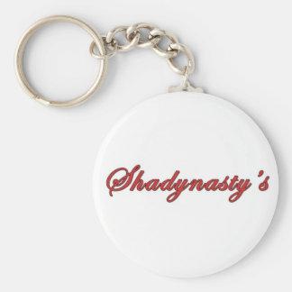 Shady Basic Round Button Keychain