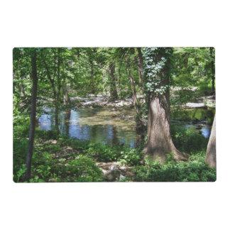 Shady Cypress Creek Laminated Placemat