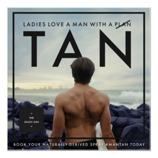 Shady Gent- The Man Tan Poster