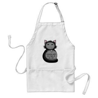 Shady kitty cat adult apron