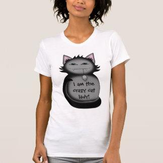 Shady kitty cat funny crazy cat lady T-Shirt