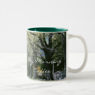 Shady Lane Street My Morning Coffee Cup/Mug Two-Tone Coffee Mug