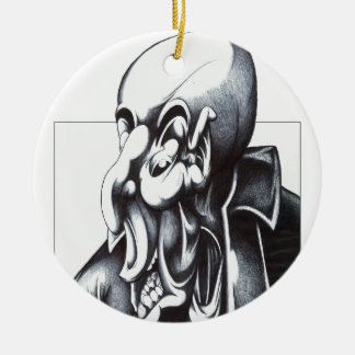 Shady Double-Sided Ceramic Round Christmas Ornament