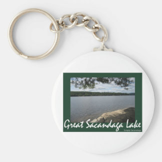 Shady Serenity Basic Round Button Keychain