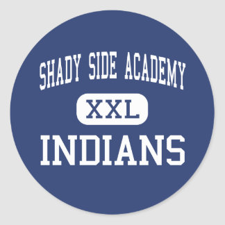 Shady Side Academy Indians Middle Pittsburgh Classic Round Sticker