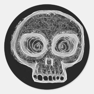 shady skull sticker