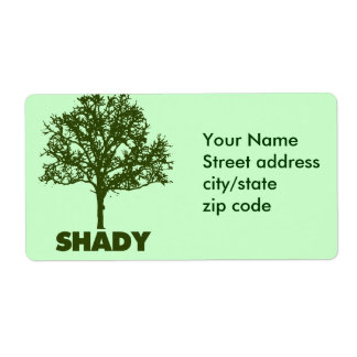 Shady Tree GO Green Humor Shipping Labels