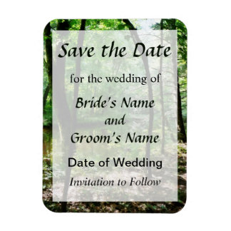 Shady Woods Save the Date Magnet