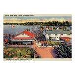 Shafer Lake, Indiana Ideal Beach Resort Posters