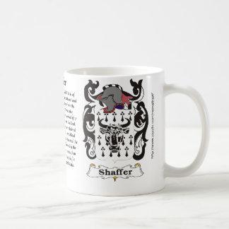 Shaffer Family Coat of Arms mug