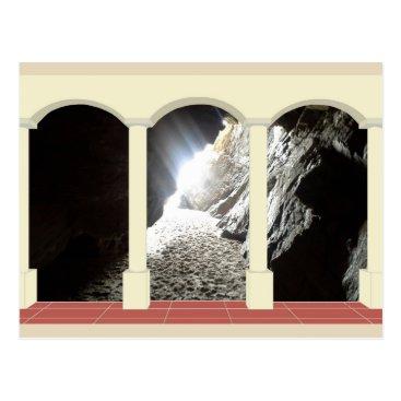 Beach Themed Shaft of Light through Archway Postcard