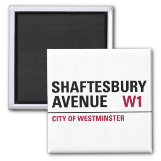 Shaftesbury Avenue Sign Magnet