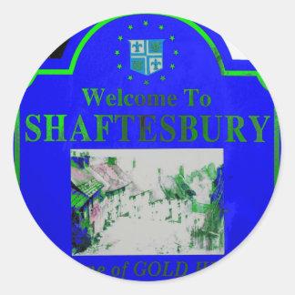 Shaftesbury Blue Green Classic Round Sticker