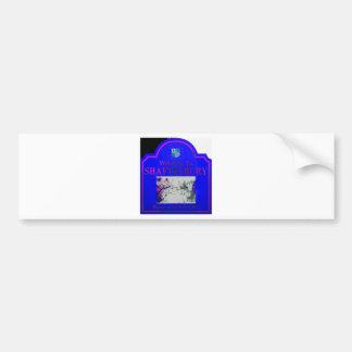 Shaftesbury Blue Pink Bumper Sticker