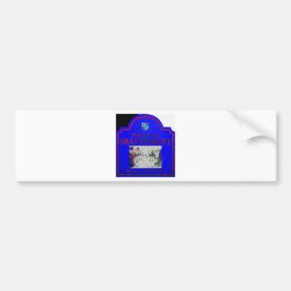 Shaftesbury Blue Red Bumper Sticker