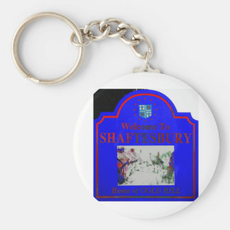 Shaftesbury Blue Red Keychain