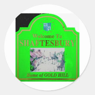 Shaftesbury Green Classic Round Sticker