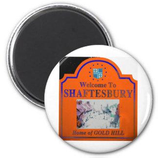 Shaftesbury Orange Blue 2 Inch Round Magnet
