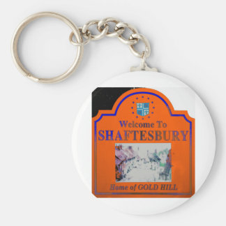 Shaftesbury Orange Blue Keychain