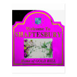Shaftesbury Pink Yellow Post Cards